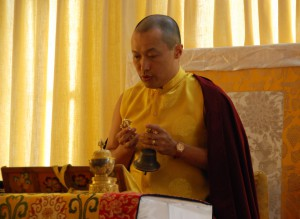 Sakyong Mipham during the Health and Healing Puja, photo by Pablo Coddou