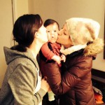 baby M. S. with her auntie Leigha and mother Claire, Boston