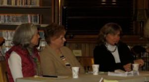 Panelists-  L-R, Jane Arthur, Sue Cherry, Gwendolyn Highsmith by Cara Thornley