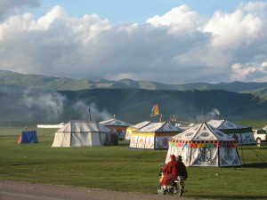 nomad-tents-at-festival by Mayul School Project