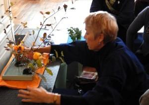 Marcia Shibata doing a demonstration
