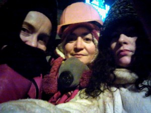 Ira and friends in Maidan Square