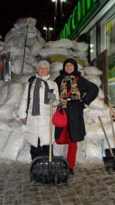 Ira and a friend in Maidan Square