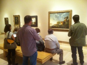 AC class engaged in contemplative viewing at Norton Simon 2