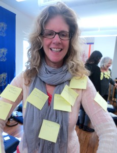 Allison with post its, by Angela Lloyd