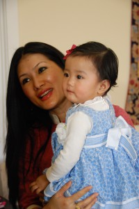 The Sakyong Wangmo and Jetsun Yudra on her first birthday, photo by Pablo Coddou