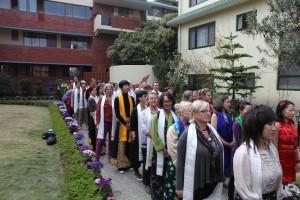 Nalandabodhi students awaiting their cue