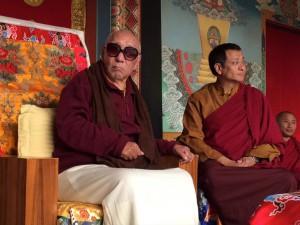 Khenpo Tsultrim Gyamtso Rinpoche and Dzogchen Ponlop Rinpoche, photographer unknown