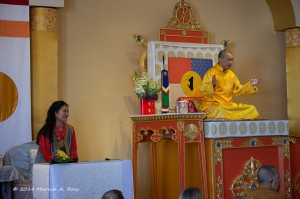 The Sakyong giving his Shambhala Day address, photo by Marv Ross
