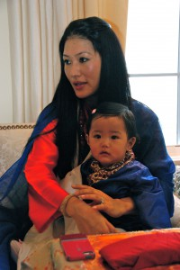 The Sakyong Wangmo and Jetsun Yudra at the Kalapa Court, photo by Pablo Coddou