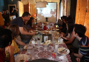 Live Skype meal with Tehran