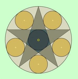 art by Acharya Greenleaf's dad, Newcomb Greenleaf, who is exploring Japanese Temple Geometry.