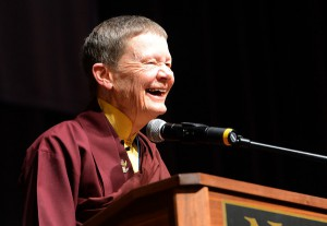 Ani Pema Chodron at the Naropa Graduation photo by Cliff Grassmick of the Daily Camera
