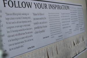 Aspirations Board, photo by Charles Betito Filho
