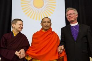 Sakyong Mipham Rinpoche, Ani Pema Chodron and Rev. Bishop Andrus, photo by BHH Studios