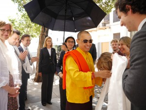 Sakyong Mipham Rinpoche arrives to teach at the Ziji Collective gathering
