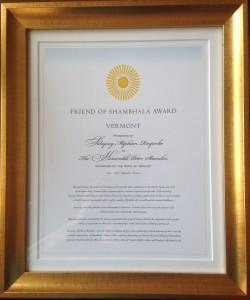 Friend of Shambhala Award