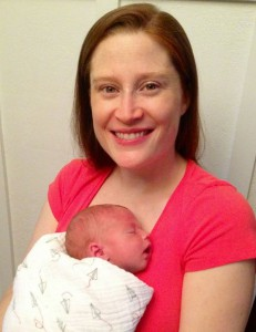 new mother Liz Downey Silberstein with little Jackson Lawrence