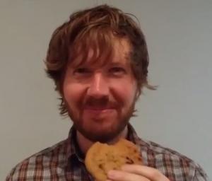 Geoffrey Gale: eating a cookie