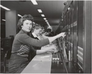 Omaha switchboards 1959, photo used with the permission of the Telecommunications History Group