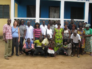 Sala Sweet (second from left) takes road trips with the Accra North Rotary Club, in Ghana