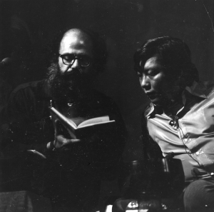 Allan Ginsberg with Chogyam Trungpa Rinpoche, photo from the Naropa archives