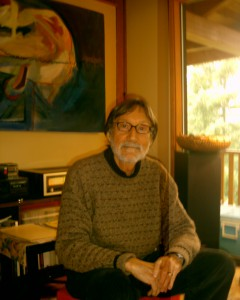 Karl Usow at his home in Gibsons, BC 2005,photo by Walter Fordham