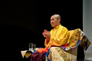 Sakyong Mipham Rinpoche offers meditation instruction in Amsterdam, photo courtesy of BHH Studios