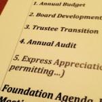Appreciation Agenda