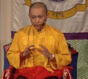 Sakyong Mipham at Naropa University October 2014, photo courtesy of Naropa University