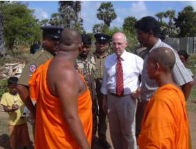 President Richard Reoch in Sri Lanka