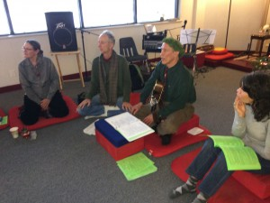 Aging Group meeting in Denver with Holiday Sing Along