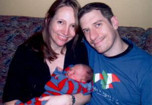 Alix Baragiotta and parents Amelie Laberge and Davin Baragiotta