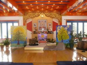 Karme Choling's Children's Day shrine