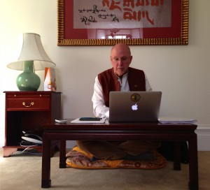 """outgoing president Richard Reoch in his """"office"""" at the Tenno Room in Halifax"""
