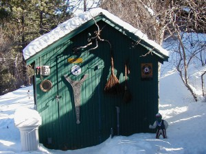photo by Jennifer Woodhull - This winter shed is one I lived in up in Jamestown, CO twelve or so years ago.