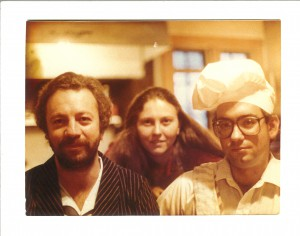 """From left to right: Vajra Regent Osel Tendzin, Carolyn Gimian and """"Chef"""" Chuck Lief"""