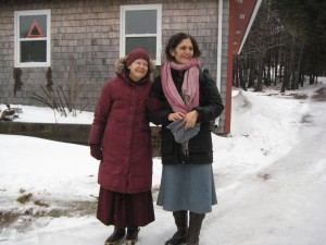 Hope Martin with Ani Pema Chödrön