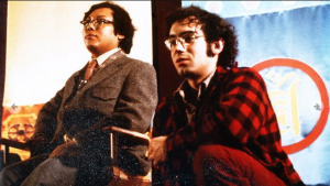 Naropa founder Chogyam Trungpa and current Naropa president Chuck Lief together in this image from the 1970s. (Photo: Courtesy of Naropa University)