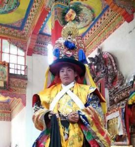Twelfth Trungpa Leading the Dance - closeup
