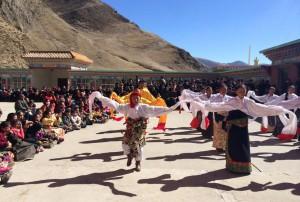 performance in shedra courtyard