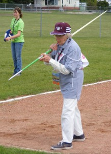 Acharya Mitchell Levy has been training for month with an experienced javelin coach