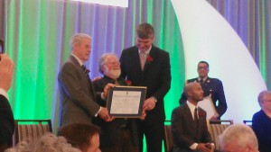David receiving the Provincial Volunteer award from Nova Scotia Premier Stephen McNeil and Lieutenant Governor J.J. Grant