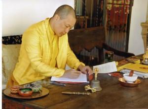 The Sakyong at Casa Werma