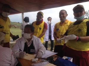 monks at health camp