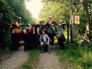 Group photo at Kalapa Valley by Zaida Rigpa Belendez