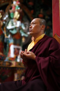 Sakyong Mipham Rinpoche during a mandala offering