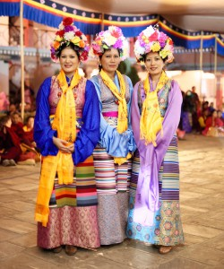 The Sakyong Wangmo, Semo Pede, and Semo Palmo
