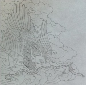 Garuda drawing by Jampa Pawo