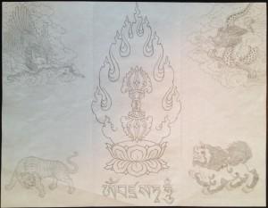 Drawing by Jampa Pawo